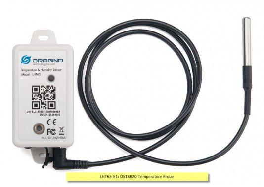 LHT65 LoRaWAN temperatūros ir drėgmės sensorius
