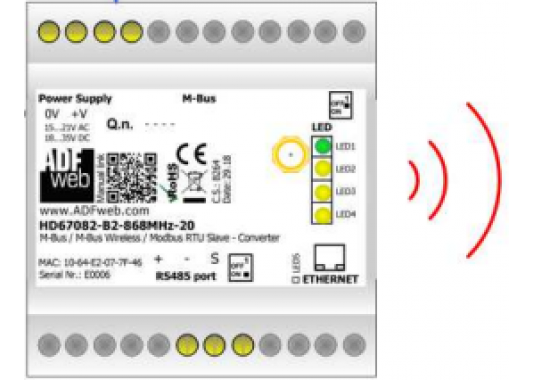 M-Bus Wireless / Modbus keitiklis