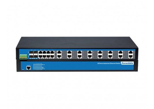 28-prievadų 100M/Gigabit 2-ojo lygmens nevaldomi pramoniniai Ethernet komutatoriai IES1028