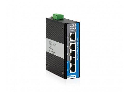 5-prievadų pilnai Gigabitinis 2-ojo lygmens nevaldomas pramoninis Ethernet komutatorius IES205G