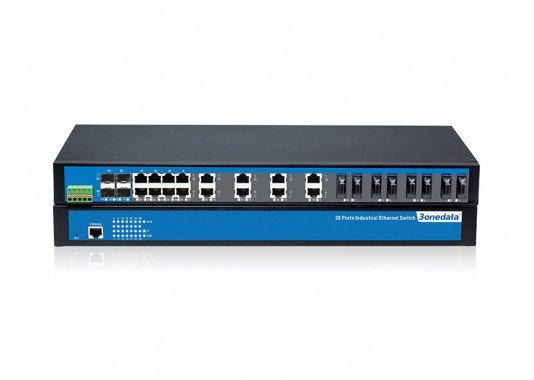28-prievadų 100M/Gigabit 2-ojo lygmens valdomi pramoniniai Ethernet komutatoriai IES5028