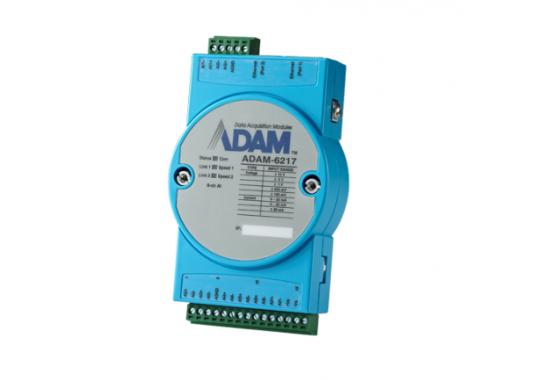8 x AI Modbus TCP modulis ADAM-6217